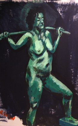 Kirsten study in green. 