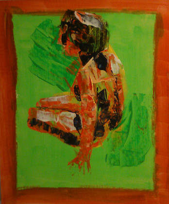 Nude Study on Green 