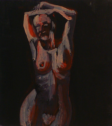 Nude study on black 